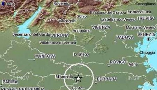 TERREMOTO, NUOVA SCOSSA AVVERTITA A MANTOVA, ROVIGO E MODENA
